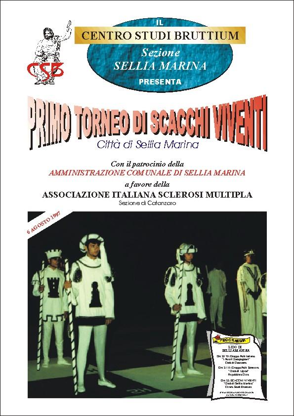 1997 Scacchi viventi-Sellia Marina Locandina
